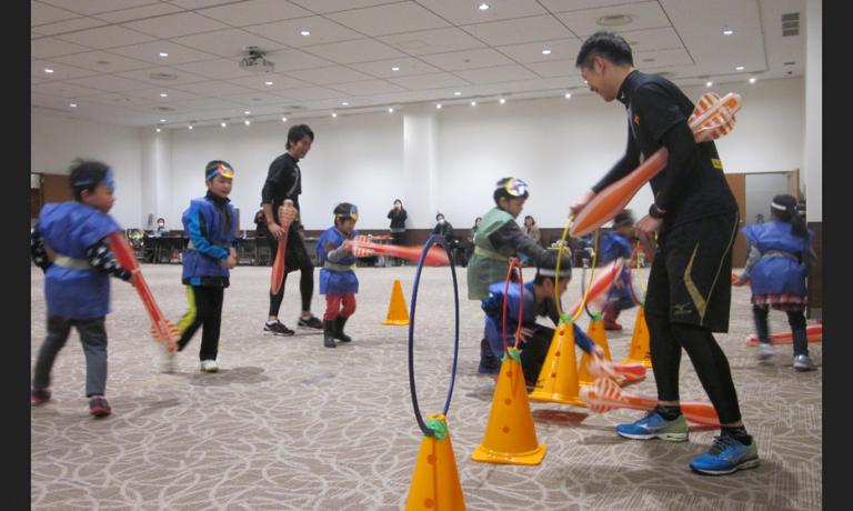 イオンで開催!ミズノ流忍者学校!子どもの運動プログラム