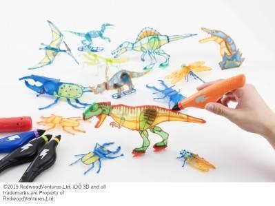 ライトで固めて作っちゃおう!3Dドリームアーツペン 恐竜&昆虫セット
