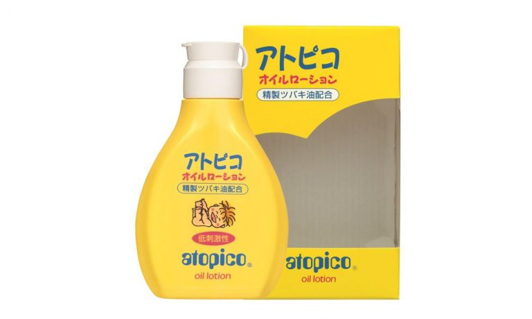 生まれたばかりの赤ちゃんにも安心♪ 低刺激性で無香料、無着色の『アトピコ オイルローション(乳液)』