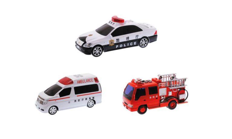 サウンドクラウンパトカー、エルグランド救急車、サウンドポンプ消防車