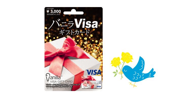 プレゼント! Visa加盟店で使える「バニラVisaギフトカード」3000円分