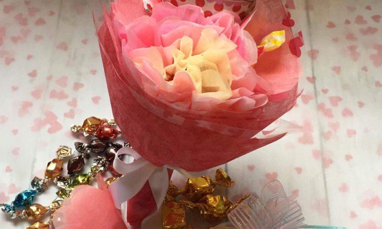 お菓子を選んで キャンディーブーケを作ろう(800円)