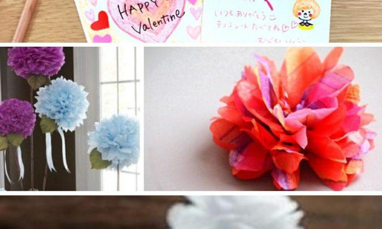 【10日】ラッピング用お花のポンポン&メッセージカード作り