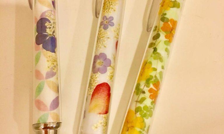 【22日】押し花ボールペン