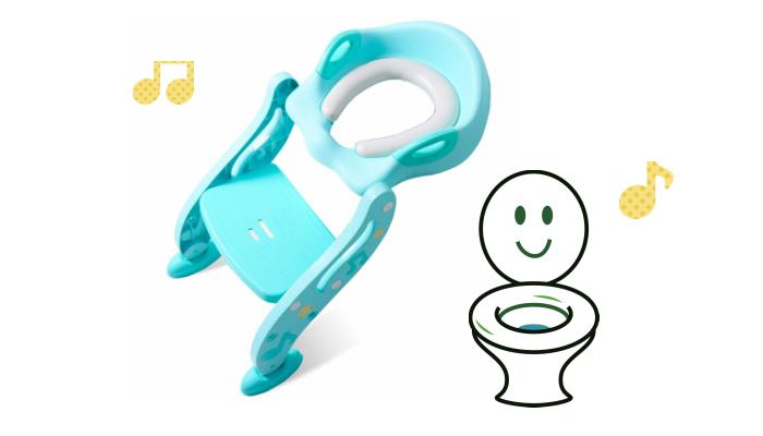 プレゼント! トイレトレーニングがぐっと楽になる「KIDPAR ステップ式 トイレトレーナーシート」