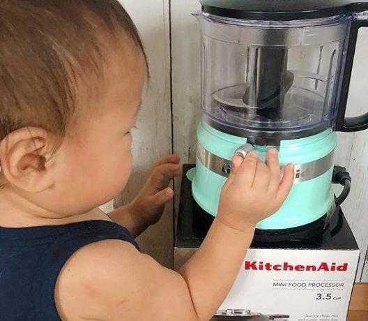 食事づくりに大活躍!「キッチンエイド 3.5カップ ミニフードプロセッサー」モニターママの口コミ!