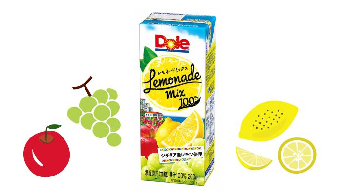新しいパッケージになって再登場! 酸味と甘みのバランスが絶妙な「Dole® レモネードミックス」のモニター募集!