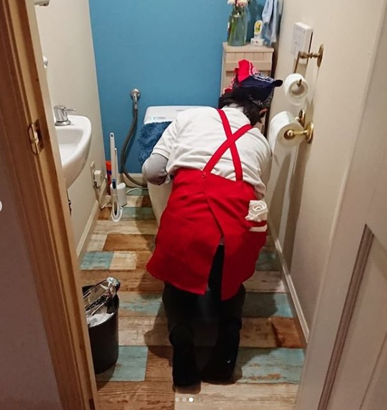 トイレもお願いしました