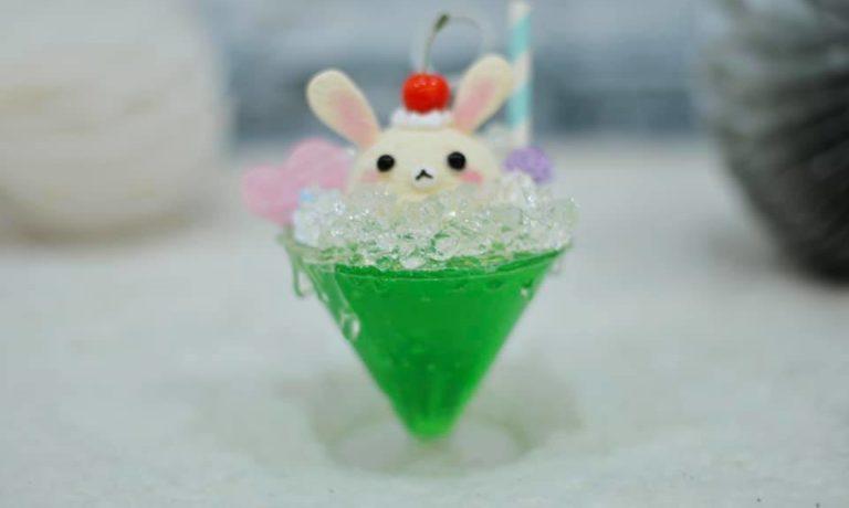 【15日】涼しげなクリームソーダのメモスタンド