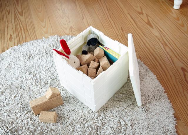 プレゼント!おもちゃの収納にぴったりな「グリットコンテナー キューブ」