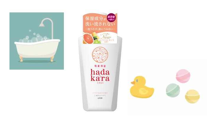プレゼント!保湿成分が肌に残り、洗うたびにうるおう「hadakaraボディソープ シトラス&カシスの香り」
