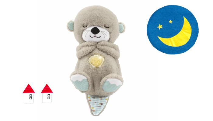 プレゼント!11種類の感覚刺激でぐずり泣きや寝かしつけをサポート「おやすみラッコ」