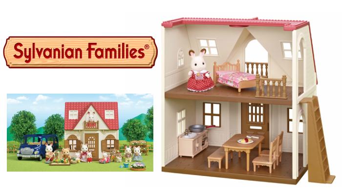 プレゼント!すぐに遊べる♪お人形とおうち、家具がセットになった「はじめてのシルバニアファミリー」