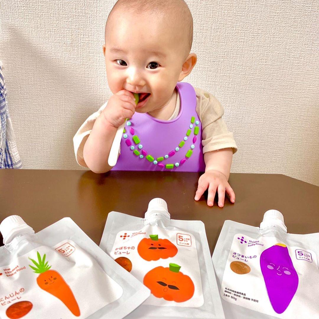 「the kindest babyfood お試しピューレ3食セット(にんじん、かぼちゃ、さつまいも)」モニターママの口コミ!