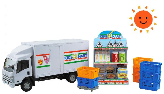 子どもの世界が広がるお店やさんごっこが楽しめる♪「はこんで!ならべて!コンビニトラック」のモニター募集!