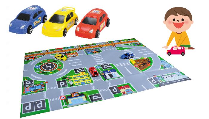シートを広げておうちの中でもドライブ気分♪ 「ドライブマップ ミニカー付」のモニター募集!