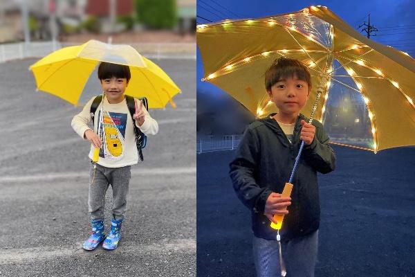 LEDライトつきで暗い道も安心の傘!「ぴかぴかさ」モニターママの口コミ!