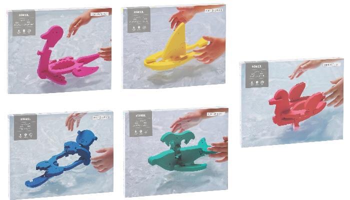 プレゼント!お風呂のなかでもパズル遊び♪シャオール「フローティック(うみがめ、ねったいぎょ、ぺんぎん、かに、きんぎょ)」5種類セット