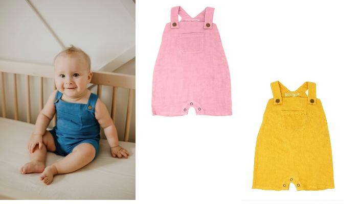 赤ちゃんのデリケートな肌にやさしいオーガニックコットンでお仕立て♪L'ovedbaby「Muslin Overall」のモニター募集!