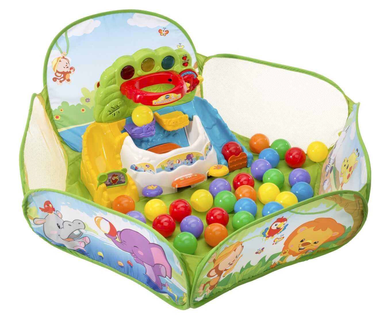 プレゼント!おうちのボールプールはなんとおしゃべり機能つき♪知育玩具のトップブランドVTech「にぎやかおしゃべりボールピット」